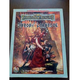 AD&D Forgotten Realms Game Accessory Heroes Lorebook