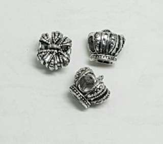 12pcs Tibetan Silver Charms - Crown