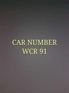 CAR NUMBER