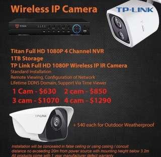 TP-Link Full HD 1080P Wireless IP Camera Package / Surveillance Camera