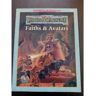AD&D - FAITHS & AVATARS TSR 9516 Forgotten Realms accessory