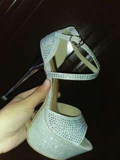 Venus silver heels