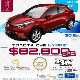 Toyota CHR 1.8 HYBRID S LED EDITION ( OPC )( 2018 )( NEW )( SUV )( HYBRID )( JDM ) / CHR CH-R C-HR
