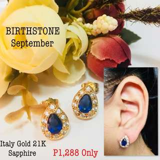 Italy Gold 21k Sapphire