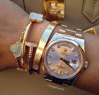 Luxury Screw Nail Bangle