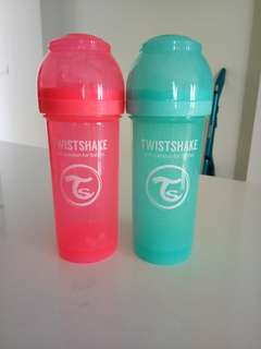 TWISTSHAKE twin pack 260ml (9oz) feeding bottle