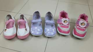 DORA shoes for 5-6yo girls, 3 pairs bundle, original, preloved