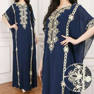 Kaftan bordir navy.grab it fast!