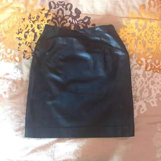 RIVER ISLAND leather skirt