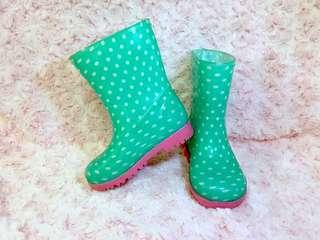 Green Polka Dots Boots