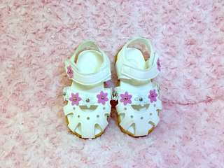 KB white sandals