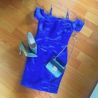 Semi sabrina midi slit dress