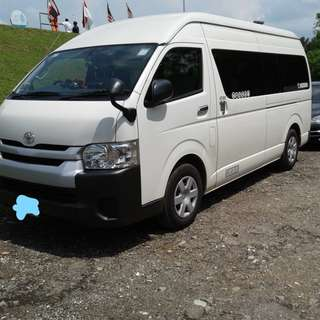 Booking for 13-seater passenger bus with driver