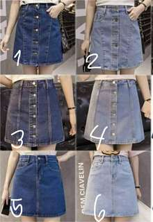 Denim skirts 💰320  Sizes-small/meduim/large/xlarge *ld