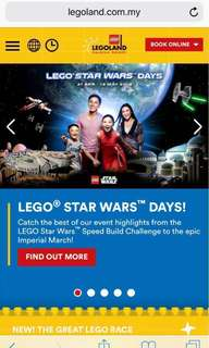 REPRICED!▪️LEGOLAND▪️ MALAYSIA 1-Day Themed-Park Open Dated