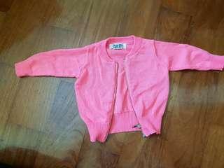Cotton on newborn neon pink jacket
