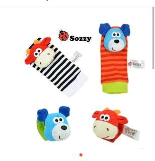 Infant soft wristle rattle only