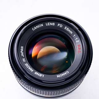 Canon 55mm f1.2 S.S.C manual focus lens