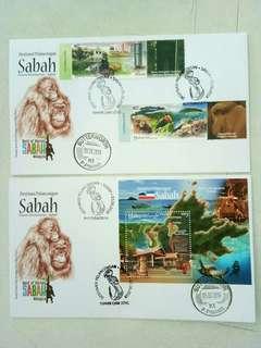 First Day Cover  destinasi pelancongan Sabah fdc set