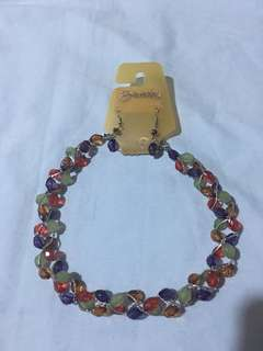 (brandnew)terno colorful necklace w/earrings