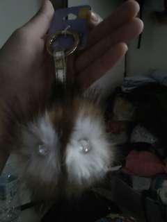 Puffy owl keychain