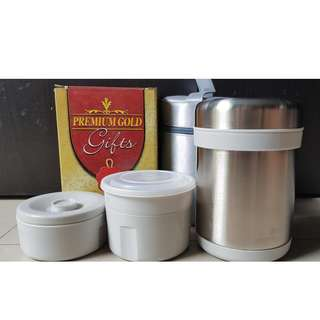 Stackable Stainless Steel Thermal Vacum Food Container with Bag