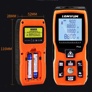 BNIB- Digital Laser Meter (w or w/o rechargeable)- Distance / Area / Volume / Length/ Width (PO)
