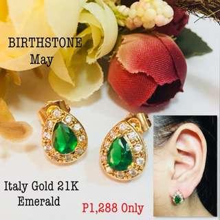 Italy Gold 21k Emerald