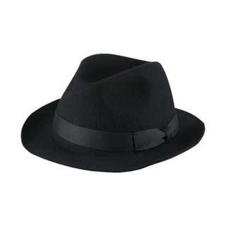🚚 Uniqlo 黑色 羊毛 紳士帽 帽子 歐美 Wool Fedora Hat
