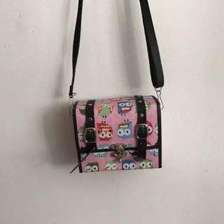 Owl small string bag
