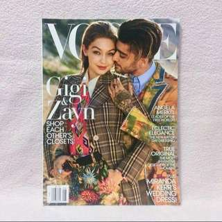 Zayn and Gigi Vogue US August 2017
