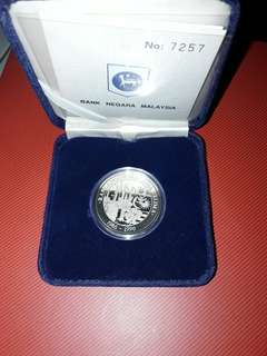 Fifth Malaysia Plan Proof Coin with Box and Certifica