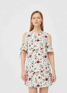 Mango cold shoulder dress