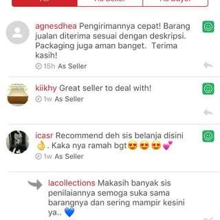 Feedback as seller.. <3