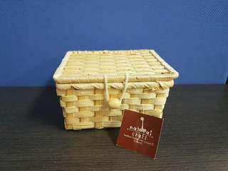 Rattan basket with cover