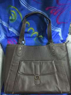 Dark Brown Laptop Tote Bag