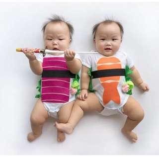 🚚 Baby Sushi Wrap Romper Cute Onesie Infant Newborn [PO]