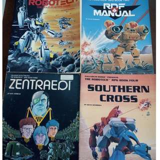 Robotech, REF, Sentinels RPG and Adventure Books