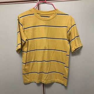 Mustard Yellow Stripes T Shirt