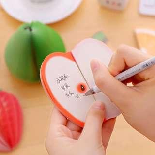 Die Cut Fruits Pocket Notepad