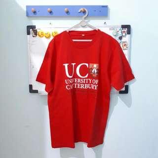 Kaos Pria UC New Zealand Merah