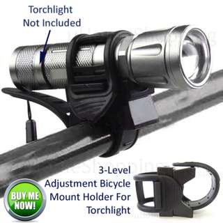 3-Level Flexible Adjustment Bicycle Mount Holder For Cree Torch, Torchlight