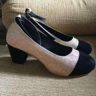 June + Julia Carryna Beige Pump Heel Shoes