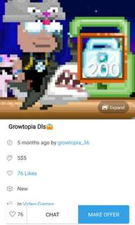 Growtopia Dls need 2 a.s.a.p meet up punggol i pay $10
