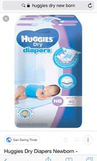 Huggies Dry New Born 3-5kg-40 pcs