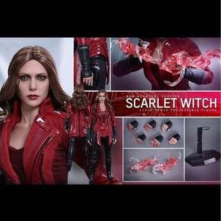 全新會場限定啡盒未開 HOT TOYS Hottoys Scarlet Witch Avengers 紅女巫 MMS357 Avengers Ver