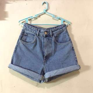 Zara overrun highwaist mom shorts