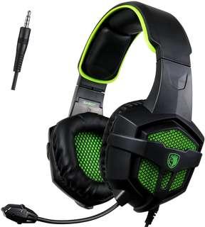 CHEAP!!! SADES SA-807 Gaming headset!! (Green)