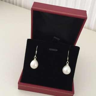 ✨SALE!!! New white pearl silver earrings白色珍珠耳環✨