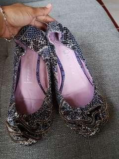 Jeffrey Campbell zipper ballerina shoes
